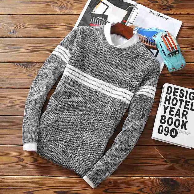 Men's Wool Fashion Pullover - TrendSettingFashions