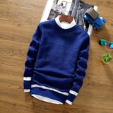 Men's Fashion Stripe Sweater - TrendSettingFashions