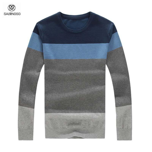 Men's Luxury Striped Pull Over Up To 4XL - TrendSettingFashions