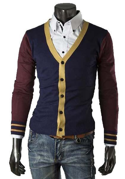 Men's Patchwork Cardigan - TrendSettingFashions
