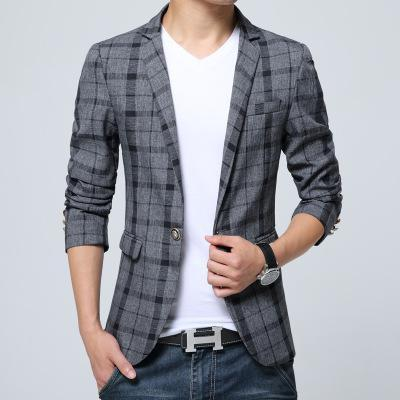 Men's Designer Plaid Blazer 3 Colors Up To Size 3XL - TrendSettingFashions