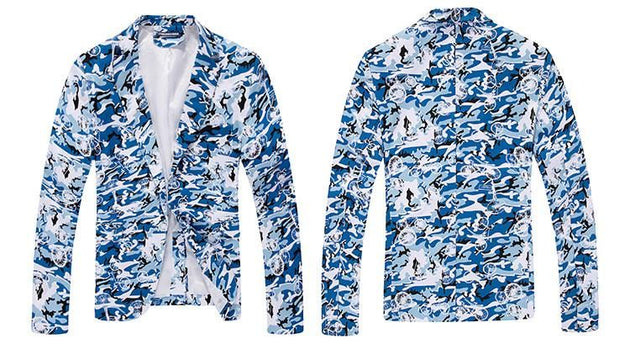 Men's Camouflage Suit Coat Up To 6XL - TrendSettingFashions