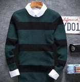 Men's 4 Stripe Casual Pullover - TrendSettingFashions
