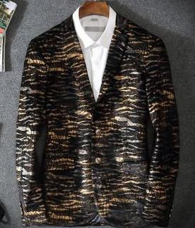 Men's Fashion Leopard Grain Blazer Up To 3XL - TrendSettingFashions