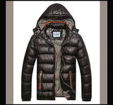 Men's Down Parka Hooded Jacket Up To 3XL - TrendSettingFashions