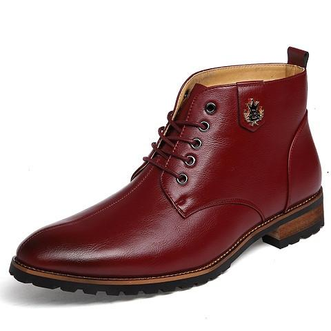 Men's 2 Tone Ankle Dress Boot - TrendSettingFashions