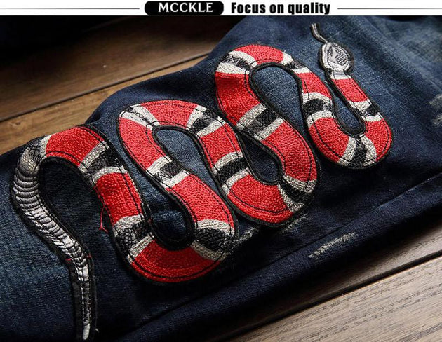 Men's Snake In the Grass Jeans - TrendSettingFashions