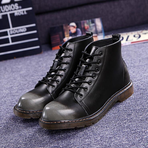 Genuine Leather Ankle Boot - TrendSettingFashions