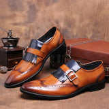 Luxury Genuine Leather Business Dress Shoes In 2 Colors - TrendSettingFashions