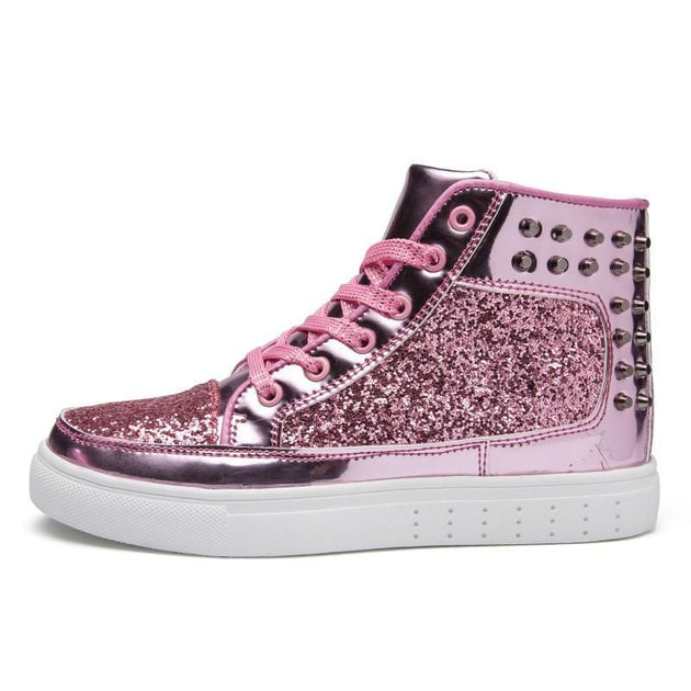 Men's Glossy High Tops - TrendSettingFashions