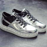 Men's Hip Hop Leather Platform High Tops - TrendSettingFashions