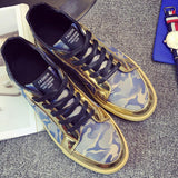 Men's Golden Camo Low Tops - TrendSettingFashions