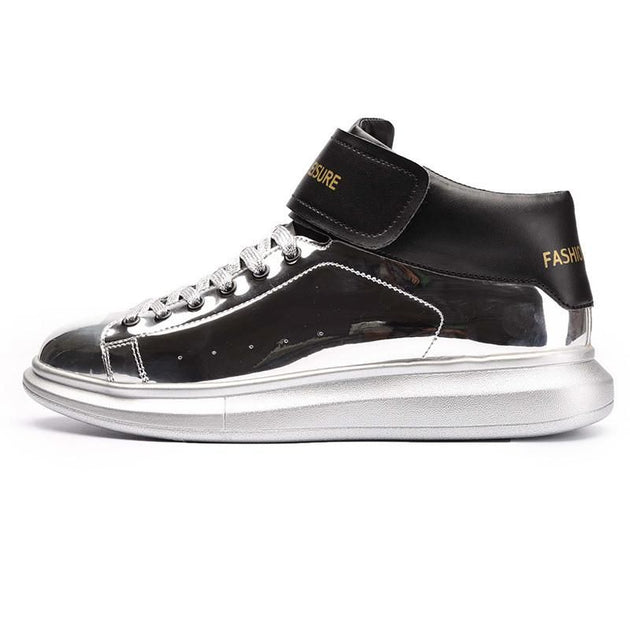 Men's Leather Leisure High Tops - TrendSettingFashions