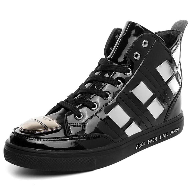 Men's Gold Designer High Top Ankle Shoe - TrendSettingFashions
