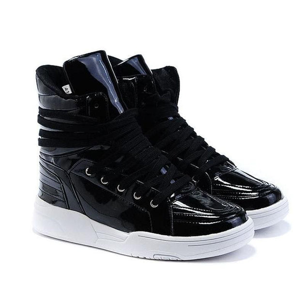 Men's Double Lace High Tops - TrendSettingFashions