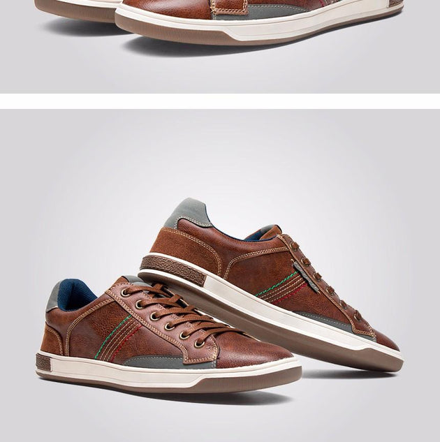 Brown Retro Style Men Shoes - TrendSettingFashions
