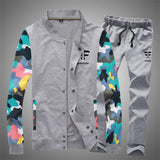 Men's Fashion Camouflage Patchwork Tracksuit