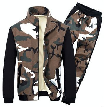 Men's Dark Camo Match Track Suit - TrendSettingFashions