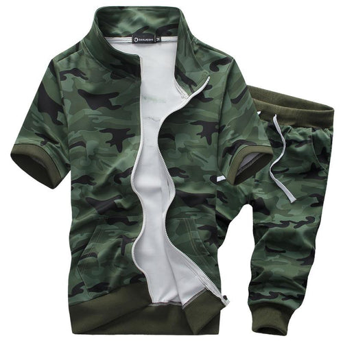Men's Camouflage Suit Sport Suit - TrendSettingFashions