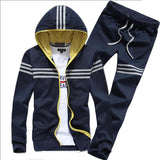 Men's Stripe 2pcs Tracksuit - TrendSettingFashions