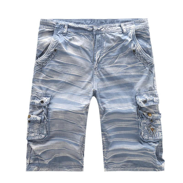 Men's Washed Multi Pocket Shorts - TrendSettingFashions