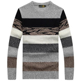 Men's Long Sleeved Striped Pullover M-3XL - TrendSettingFashions