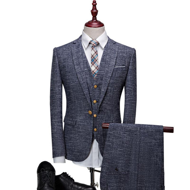 Men's stripend pattern 3 piece suit up to 3XL - TrendSettingFashions
