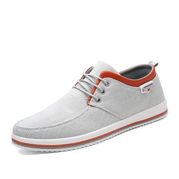 Men's Lace Up Canvas Flats - TrendSettingFashions