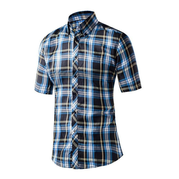 Men's Plaid Casual Dress Shirt In Many Different Styles/Colors - TrendSettingFashions