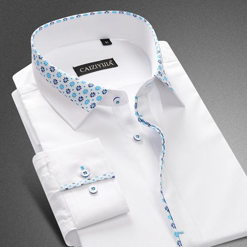 Men's Fashion Collar Dress Shirt Up To 2XL