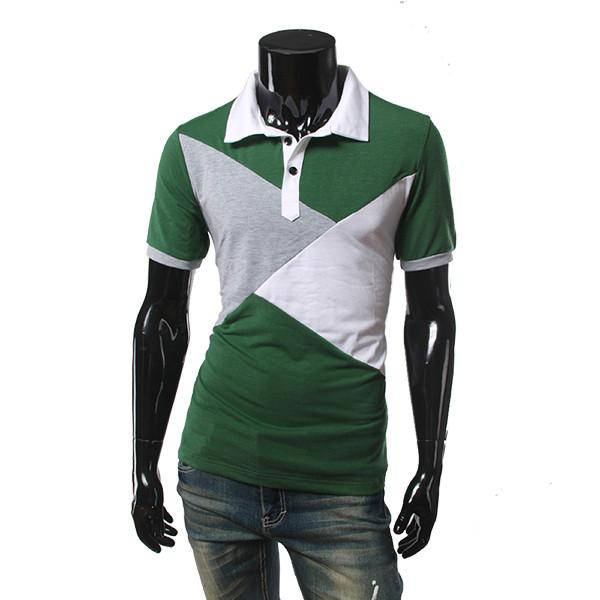 Men's Patchwork Fashion Polo - TrendSettingFashions