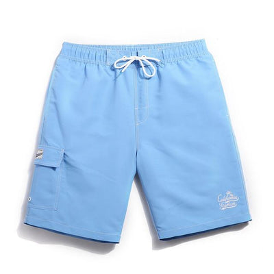 Men's Solid Board Shorts, Quick Dry In 6 Colors - TrendSettingFashions