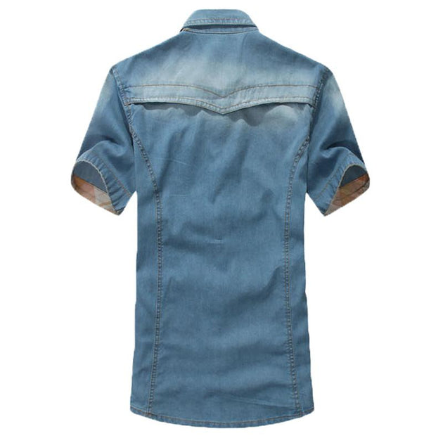 Men's Fashion Washed Dress Shirt - TrendSettingFashions