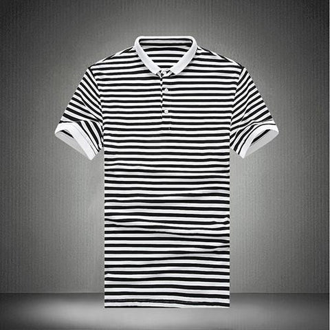 Men's Striped Polo Up To 5XL