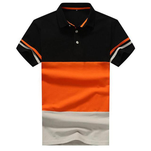 Men's Striped Polo Up To 4XL - TrendSettingFashions