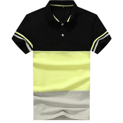 Men's Striped Polo Up To 4XL