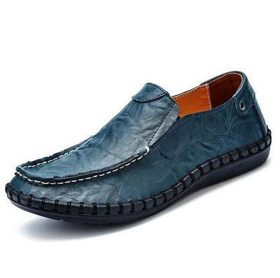 Men Flats Slip On Leather Loafers Up To Size 12 - TrendSettingFashions