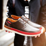 Men's Round Toe Causual Lace Up's - TrendSettingFashions