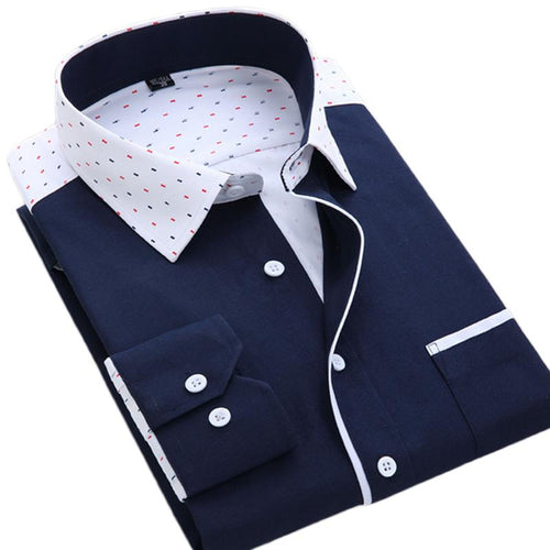 Men's Long Sleeve Dress Shirt Up To 2XL