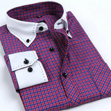 Men's Autumn Collar Designer Long Sleeve Dress Shirt - TrendSettingFashions