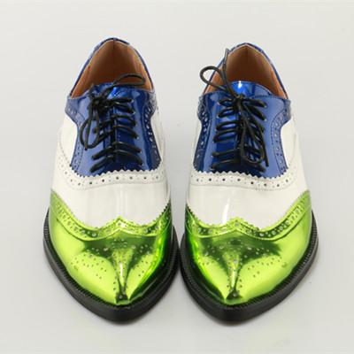 Men's Oxfords Color Pointed Toe Dress Shoes - TrendSettingFashions