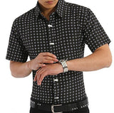 Men's Metal Decoration Lapel Dress Shirt Up To 3XL - TrendSettingFashions
