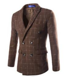 Men's Double Breasted Wool Coat Up To 2XL - TrendSettingFashions