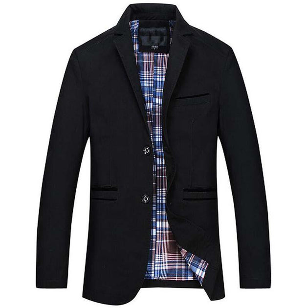 Men's Long Casual Business Turn Down Collar Jacket Up To 6XL - TrendSettingFashions