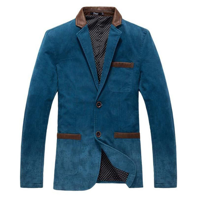 Men's Single Breasted Blazer Up To 3XL - TrendSettingFashions