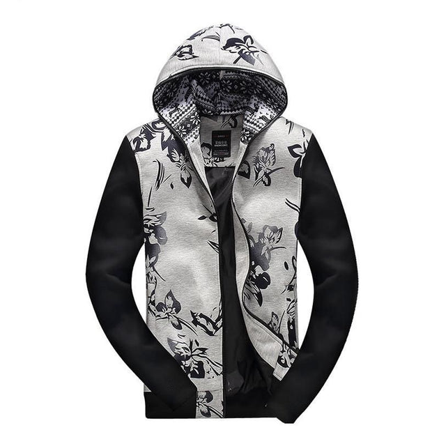Men's Fashion Printed Hoodie Jacket Up To 3XL - TrendSettingFashions
