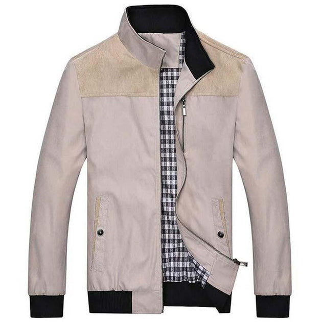 Men's Standing Collar Fashion Jacket Up To 4XL - TrendSettingFashions