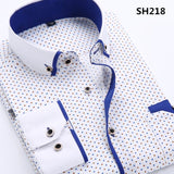 Men's Business Dress Shirt Up To 3XL - TrendSettingFashions