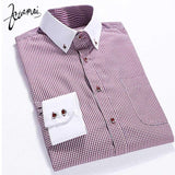 Men's Plaid Dress Shirt Up To 4XL - TrendSettingFashions