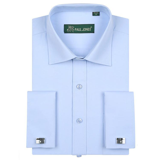 Men's Classic French Cuff Dress Shirt - TrendSettingFashions